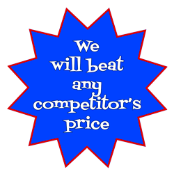 We will beat any competitor's price